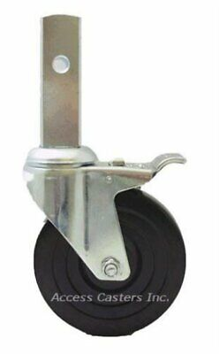 5uc5s 5 Scaffold Swivel Square Stem Caster With Total Lock Brake Rubber Wheel