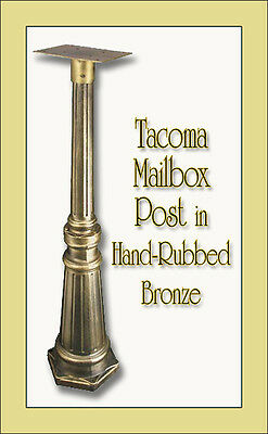 Special Lite Tacoma Mailbox Post - Surface Mount - 14 Color Choices - No Rust! Surface Mount Post Color