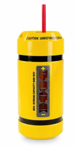 New Disney Parks Monsters Inc. Scream Can Canister Cup Bottle Sipper Mug W/Sound