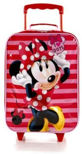 Disney Minnie Mouse Soft Side Trolley Kids Luggage Case 17 Inch Suitcase