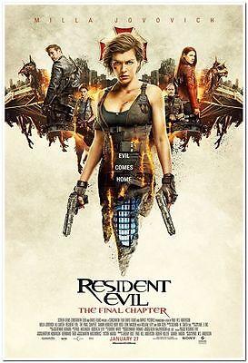 Resident Evil  Final Chapter  2017  Orig 27X40 Reg Movie Poster  Milla Jovovich