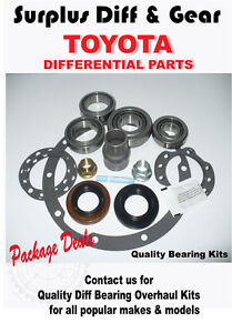 TOYOTA  LANDCRUISER 75 / 80 SERIES DIFF BEARING KIT LSD REAR DIFF
