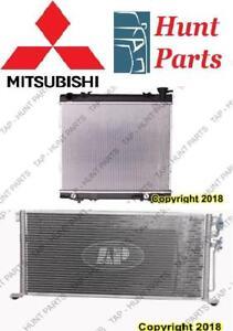 Mitsubishi AC compressor Condenser Radiator Support Fan Cooling Compresseur AC Condenseur Radiateur Support Ventilateur