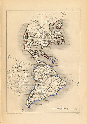 Antique Map-SOUTH AMERICA-USA-AMERICA-Buffon-De Vaugondy-1853