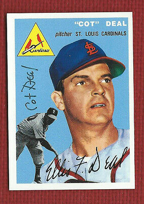 Cot Deal Autograph Auto Signed St Louis Cardinals Deceased 1954 Topps Archives