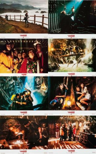 THE GOONIES U.K. Lobby Cards (1985) Complete Set of 8 LIMITED OFFER!!