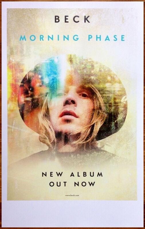 BECK Morning Phase Ltd Ed New RARE Tour Poster +BONUS Indie Pop Poster! Colors