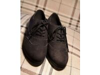 Black flat brogues shoes Ladies size 4 RRP £45