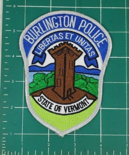 BURLINGTON STATE OF VERMONT POLICE SHOULDER PATCH