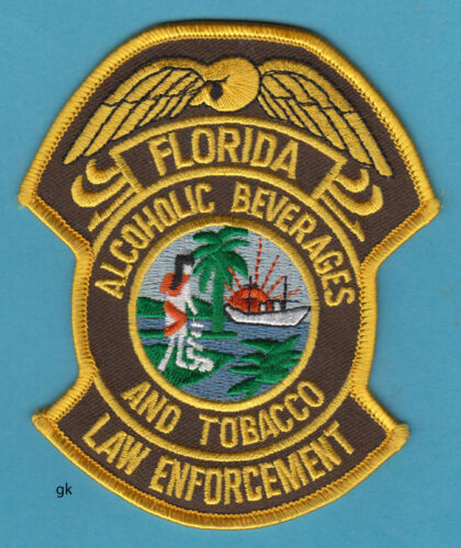 FLORIDA  ALCOHOLIC BEVERAGE TOBACCO POLICE LAW ENFORCEMENT SHOULDER PATCH