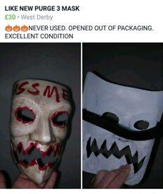 Purge 3 halloween mask