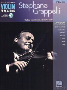 Stephane Grappelli Jazz Violin Play-Along Violine Geige Noten mit Download Code
