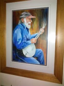 SIGNED WATER COLOURS, SILK SCREEN PAINTING AND PRINTS.