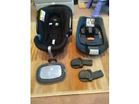 Cybex Aton Mamas and Papas Car Seat for baby up to 13kg + Base + Mirror + Buggy Adaptors