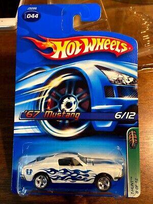 Hot Wheels 2006 Treasure Hunt 1967 Mustang White Super T-Hunt Mint 6 of 12