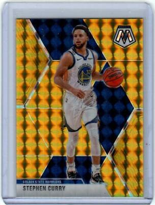 2019-20 PANINI MOSAIC STEPHEN CURRY GOLD PRIZM #6/10 WARRIORS HOT!