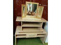 TV unit and free vanity mirror