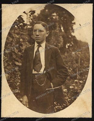 Foto-AK-Stuttgart-Portrait-Mann-Anzug-Cute-Man-Dress-1920er Jahre ()