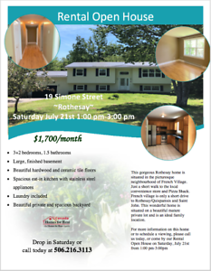 Rental Open House Saturday July 21st