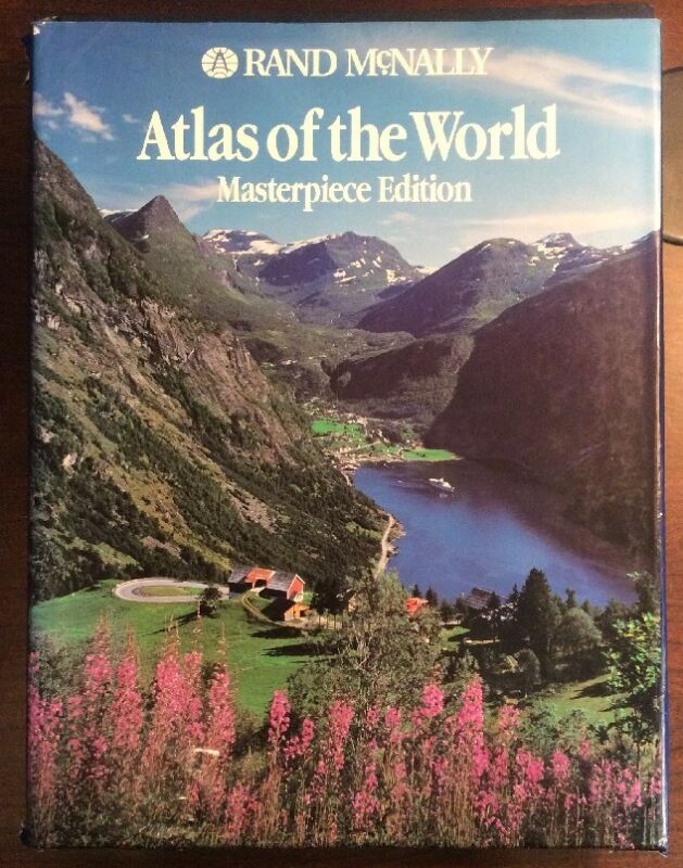 Atlas Of The World: Masterpiece Edition (1993, Large Hardcover) Rand McNally