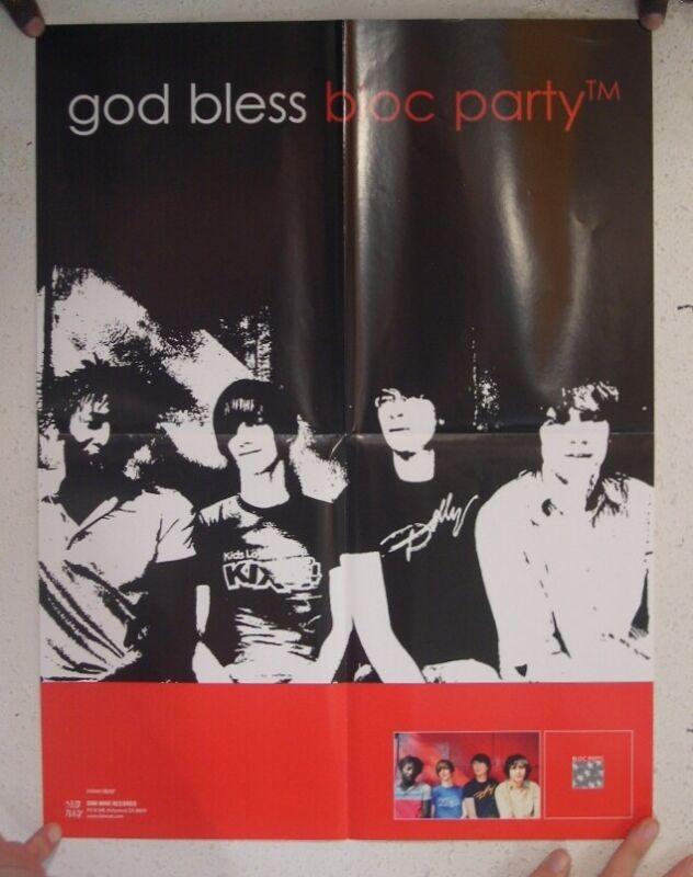 Bloc Party Poster God Bless Album Tour Promo