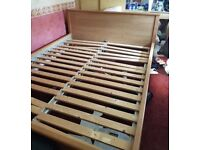 IKEA MODERN KING SIZE BED FRAME ** FREE DELIVERY IS AVAILABLE **