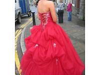 Stunning red prom dress size 6-8