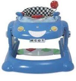 Blue car walker