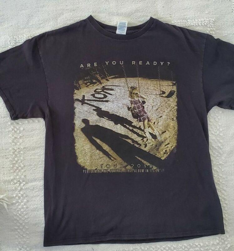 Korn 2015 Tour Are You Ready? Shirt Size Xl