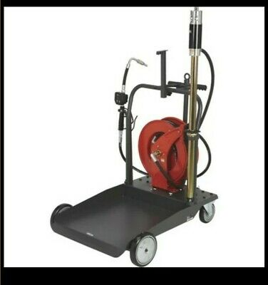 New Open Box Ironton Air-operated 51 Oil Pump Kit- W Cart And Hose Reel 3.7 Gpm