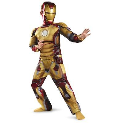 Iron Man 3 Mark 42 New Child Muscle Costume Movie Avengers Present For - Muscle Man Costume For Kids