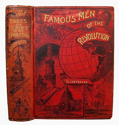 REVOLUTIONARY WAR American Revolution 1889 MILITARY Heroes Patriots US Antique