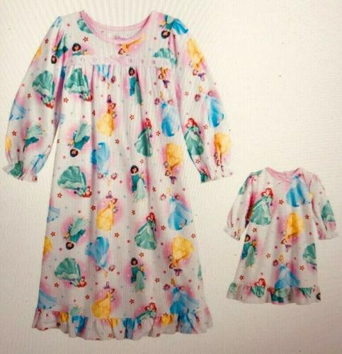 Disney Princess Toddler Girl Winter Flower Nightgown & Doll Gown 3T sleepwear