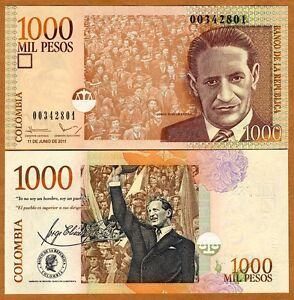 Colombia, 1000 (1,000) Pesos, 2011, P-456-New, UNC