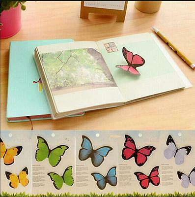 Cute Butterfly Sticker Bookmark Marker Memo Flags Index Tab Sticky Notes Rs