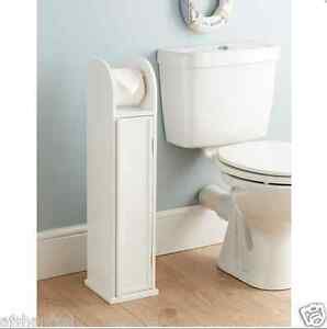 wood bathroom toilet paper roll holder floor standing storage cabinet