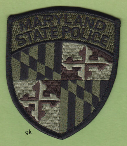MARYLAND STATE POLICE SHOULDER PATCH (Subdued -Green)