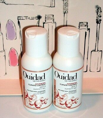 2 x 2.5 oz OUIDAD CURL ADVANCED HEAT HUMIDITY CONTROL GEL ANTI-FRIZZ + PERFUME