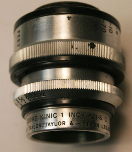 Cooke Kinic C mount 1 inch  f/1.5  O  Lens Taylor & Hobson