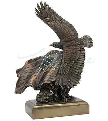 Bald Eagle & Flag - American Pride - Statue Sculpture Figure for sale  Shipping to Canada