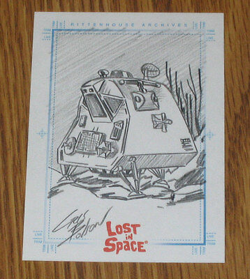 Complete Lost In Space SPACE POD SketchaFex Sketch Card Rittenhouse Cris Bolson