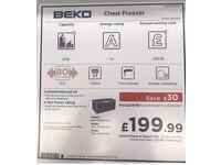 Beko Big chest freezer almost new. Quick sale please