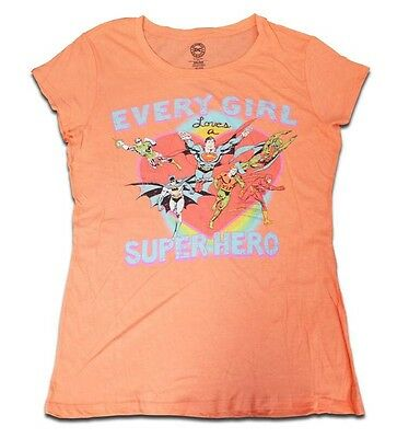 A Girl Superhero (DC Comics - Every Girl Loves A Superhero - Women's Juniors Small)