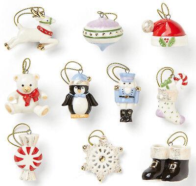 Lenox Christmas Memories 10 Chest assemble Mini Ornament Set (No Tree) New