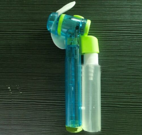 Mist Fan Bottle : Hand held battery power fan air water mist bottle cooling