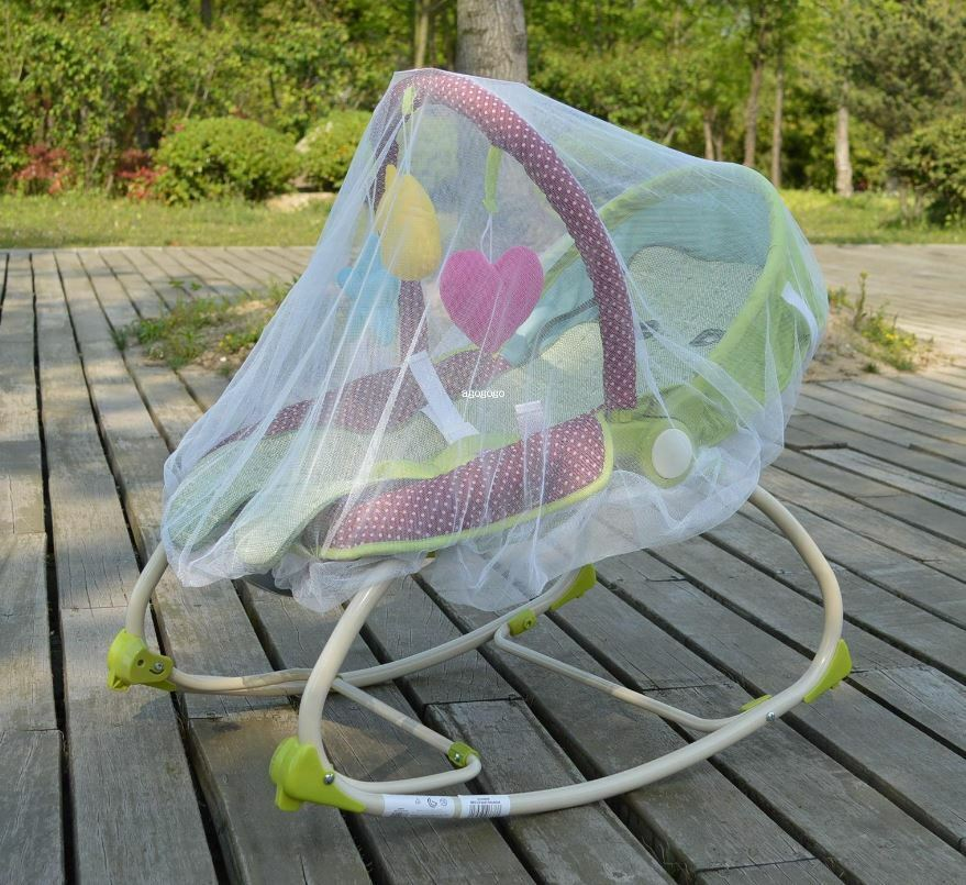 White Mosquito Bugs Net Mesh Cover for Baby Trend Infant Roc