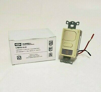 Hubbell Lighthawk Occupancy Wall Switch Sensor Lhmts1-g-iv Ivory No Screws