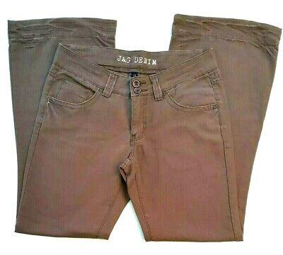 JAG Espy Womens Size 11 Brown Flare Cut Leg Mid Rise Denim Jeans