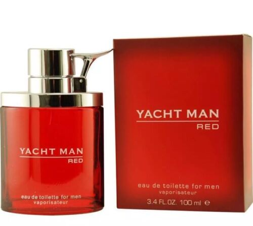 YACHT MAN RED by Myrurgia cologne EDT 3.4 oz NIB