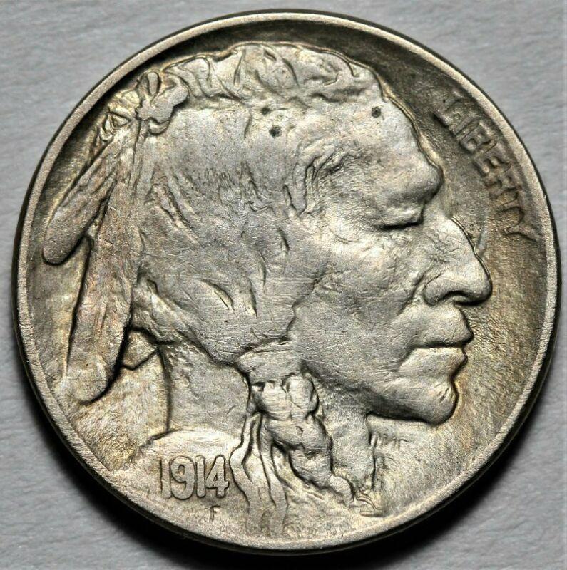 1914-P Buffalo Nickel  >> US 5c Coin <<  Flat Rate Shipping!  Lot 720